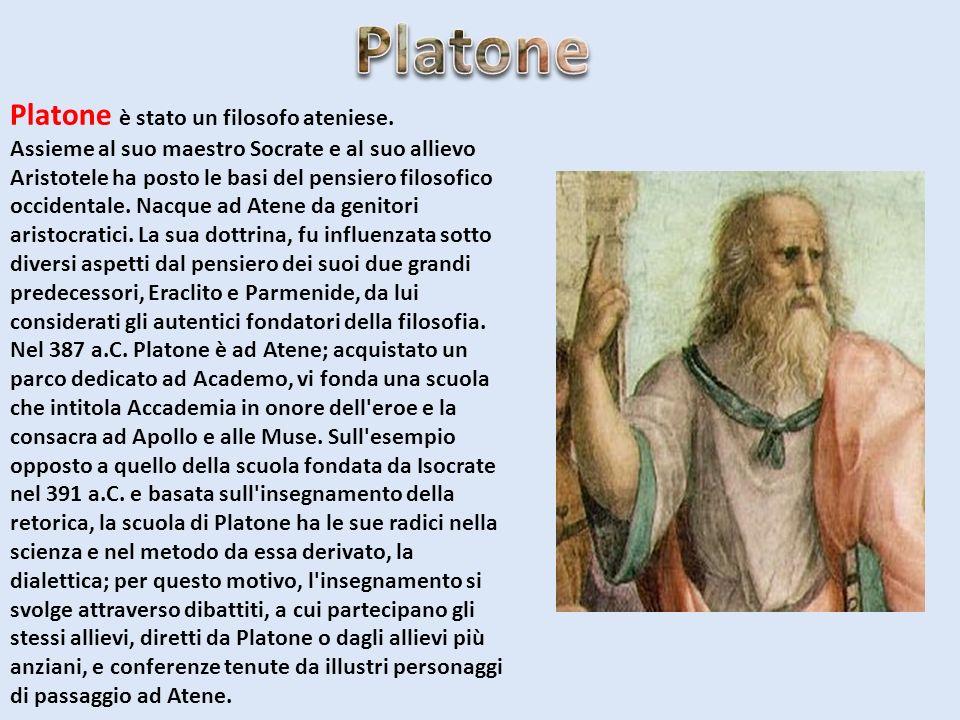 Platone Platone è stato un filosofo ateniese.