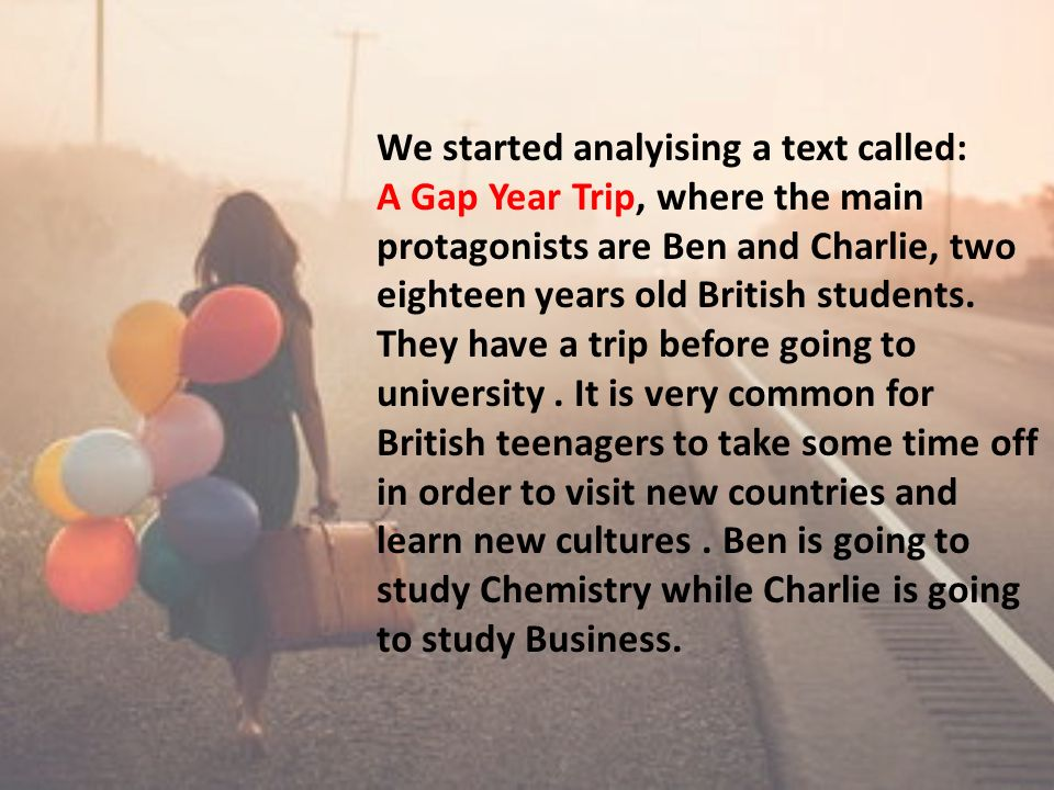 We started analyising a text called: