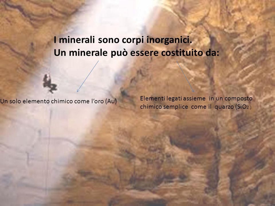I minerali sono corpi inorganici.