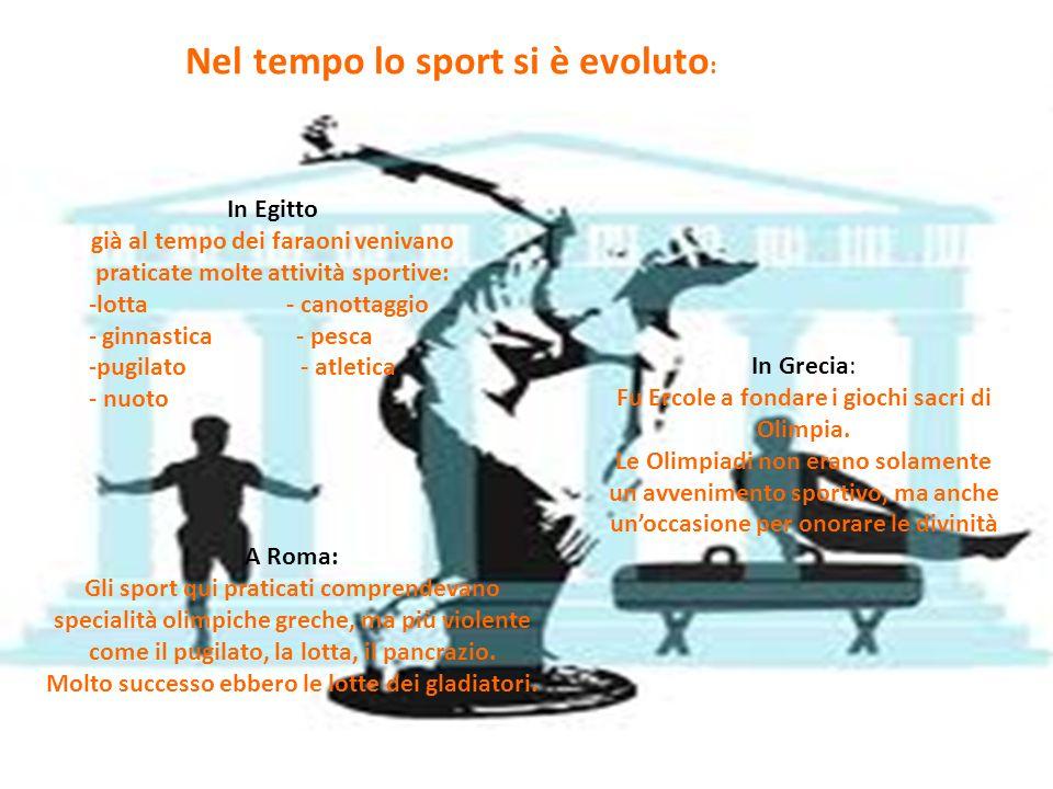 Nel tempo lo sport si è evoluto: