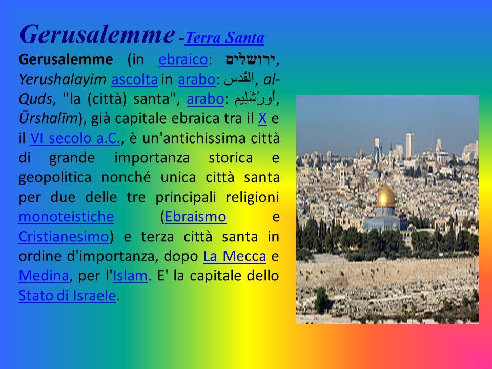 Gerusalemme -Terra Santa