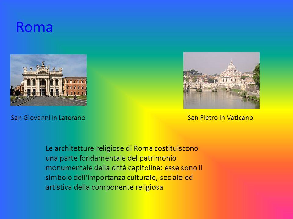Roma San Giovanni in Laterano. San Pietro in Vaticano.