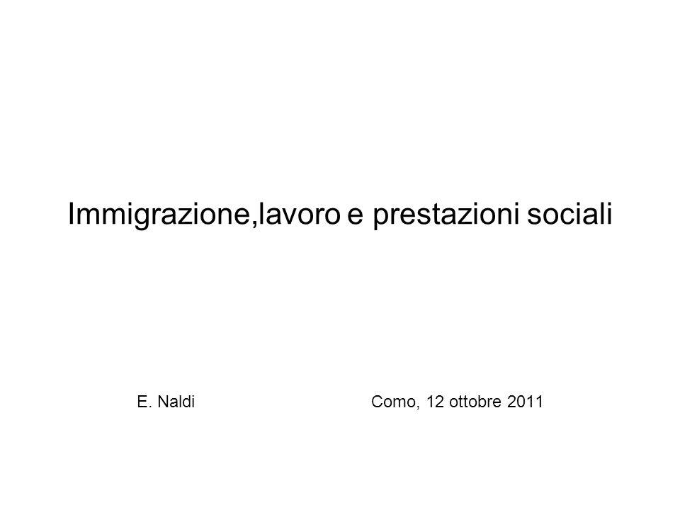 Immigrazione,lavoro e prestazioni sociali