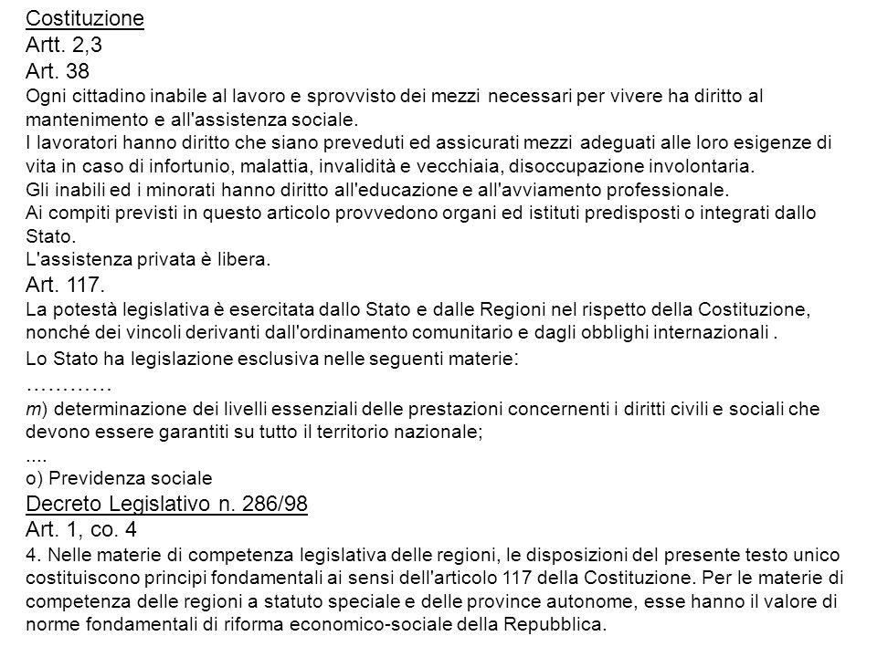 Decreto Legislativo n. 286/98 Art. 1, co. 4