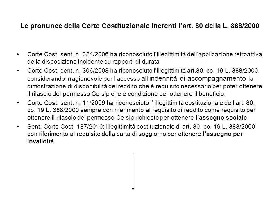 Le pronunce della Corte Costituzionale inerenti l'art. 80 della L