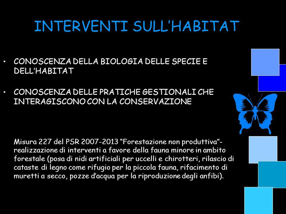 INTERVENTI SULL'HABITAT
