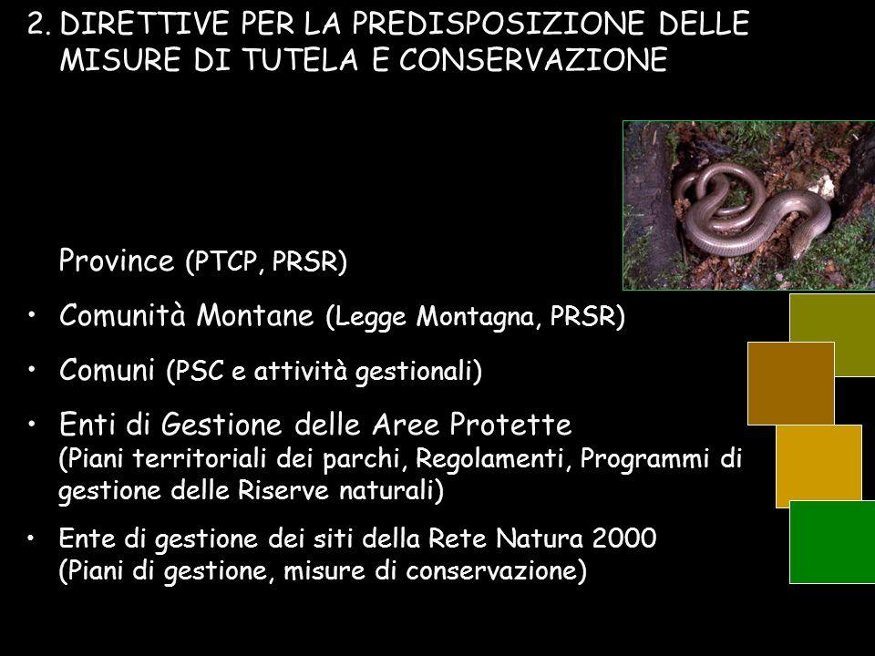 Comunità Montane (Legge Montagna, PRSR)