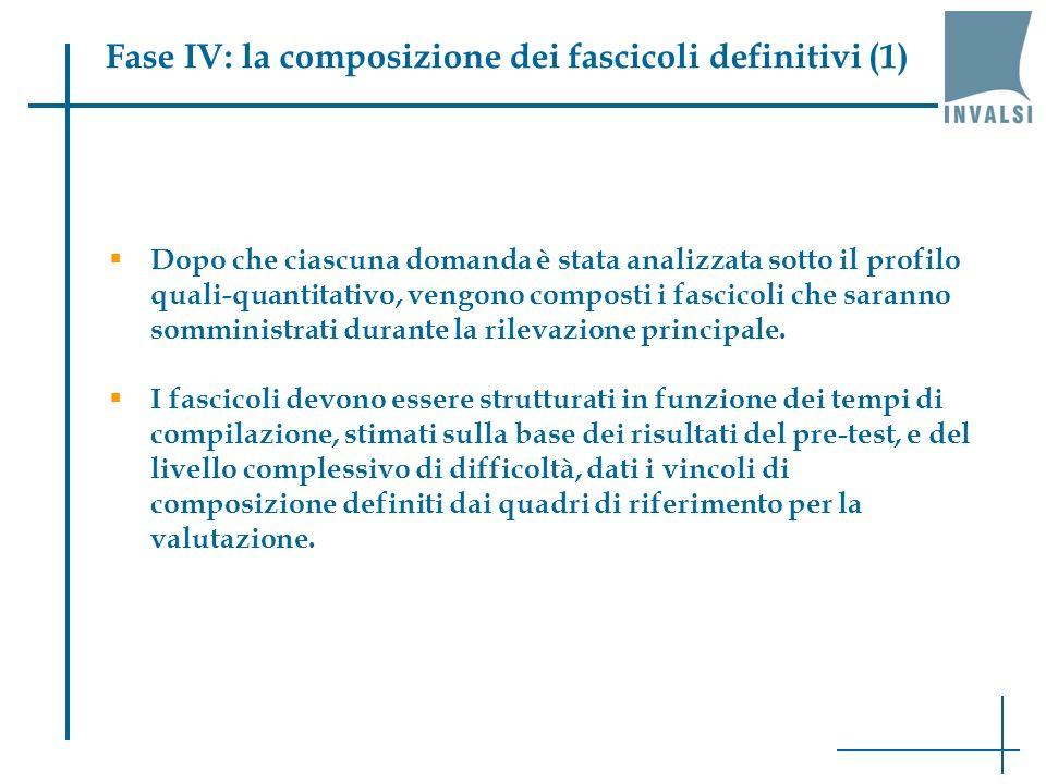 Fase IV: la composizione dei fascicoli definitivi (1)