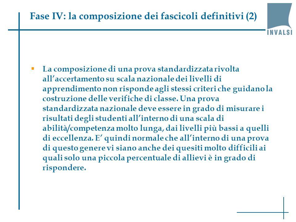 Fase IV: la composizione dei fascicoli definitivi (2)