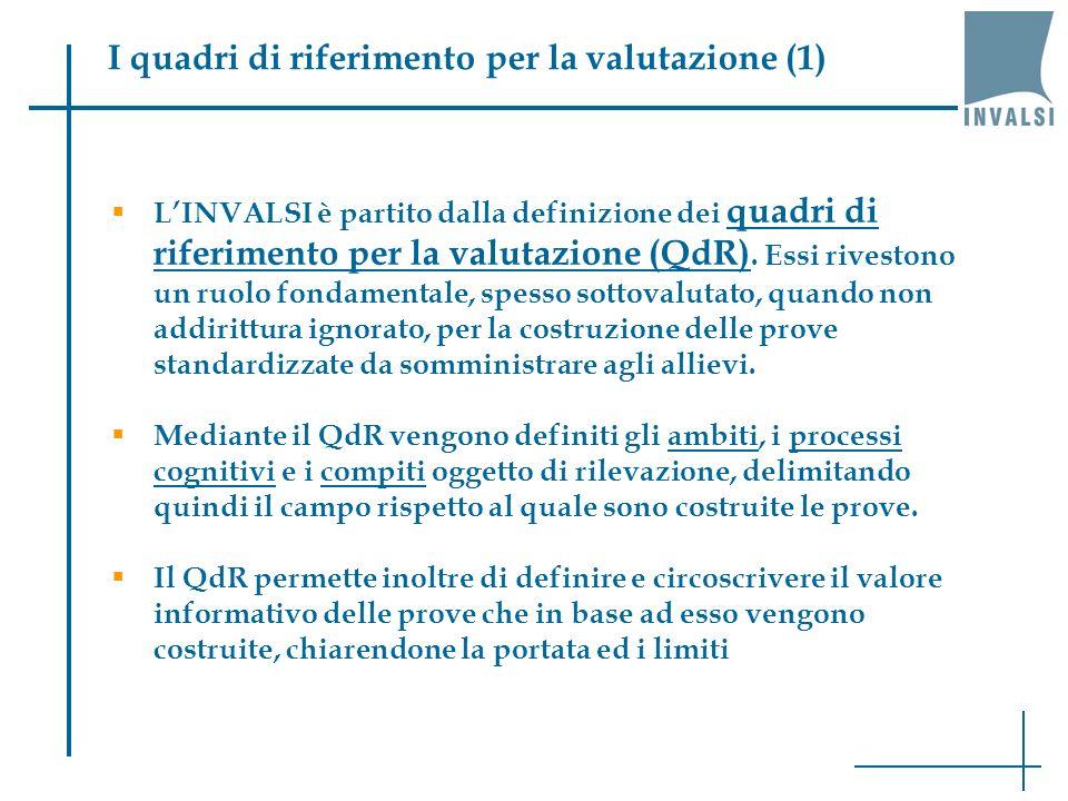 I quadri di riferimento per la valutazione (1)