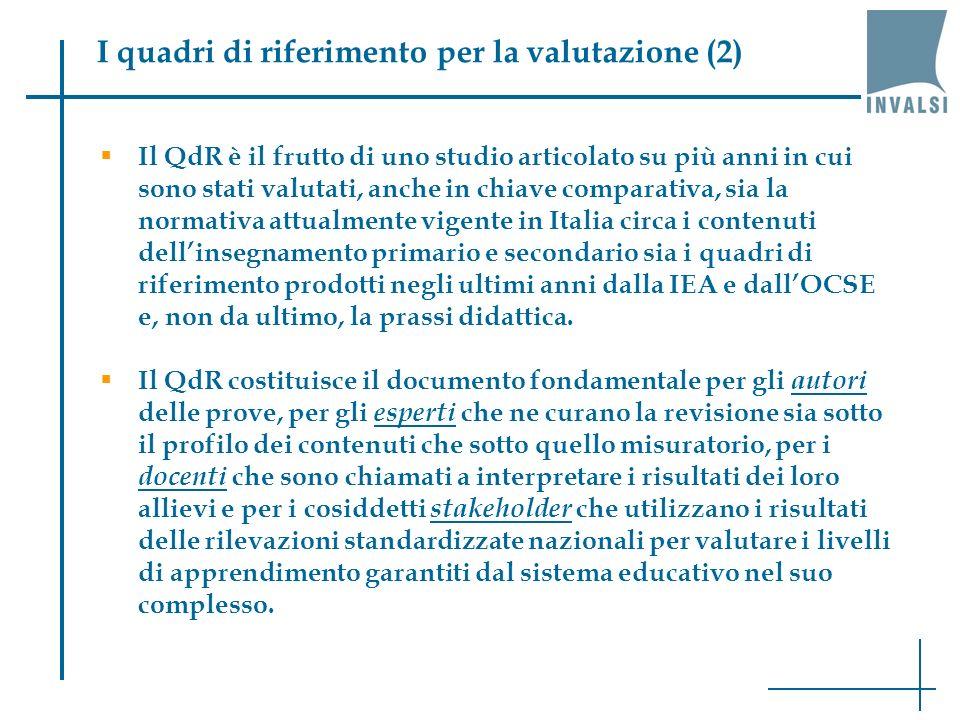I quadri di riferimento per la valutazione (2)