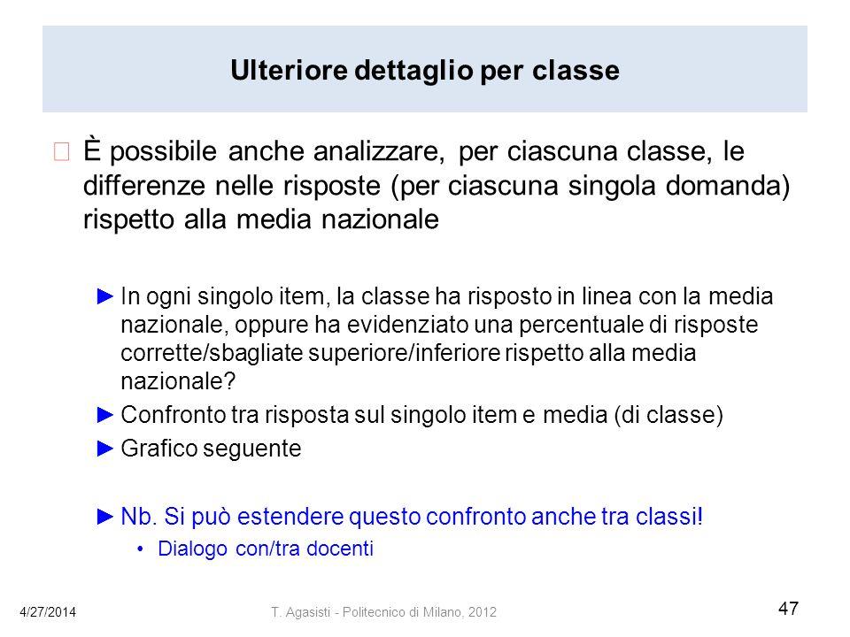 Ulteriore dettaglio per classe