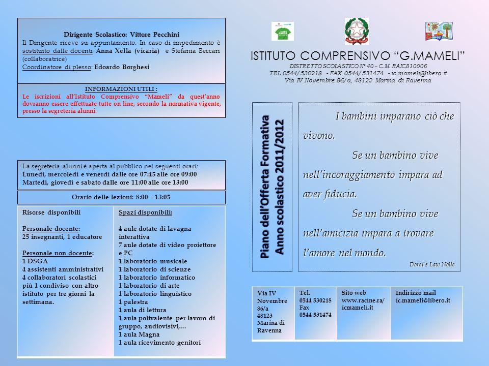 Piano dell'Offerta Formativa Anno scolastico 2011/2012