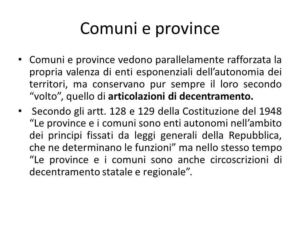 Comuni e province