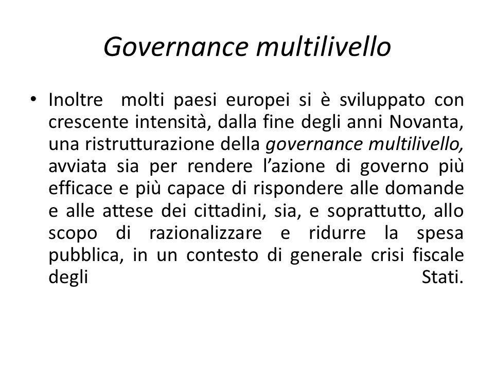 Governance multilivello