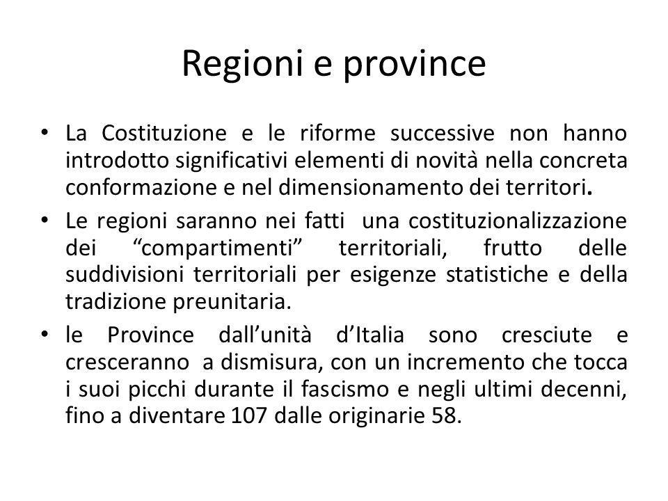Regioni e province