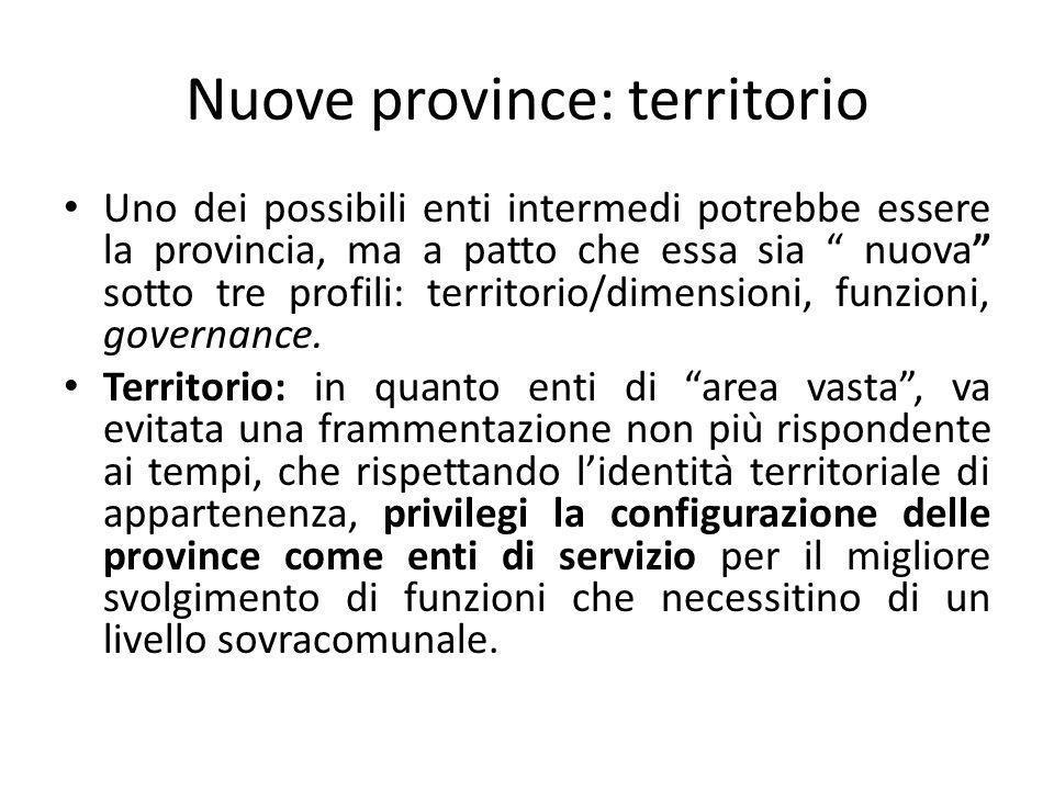 Nuove province: territorio