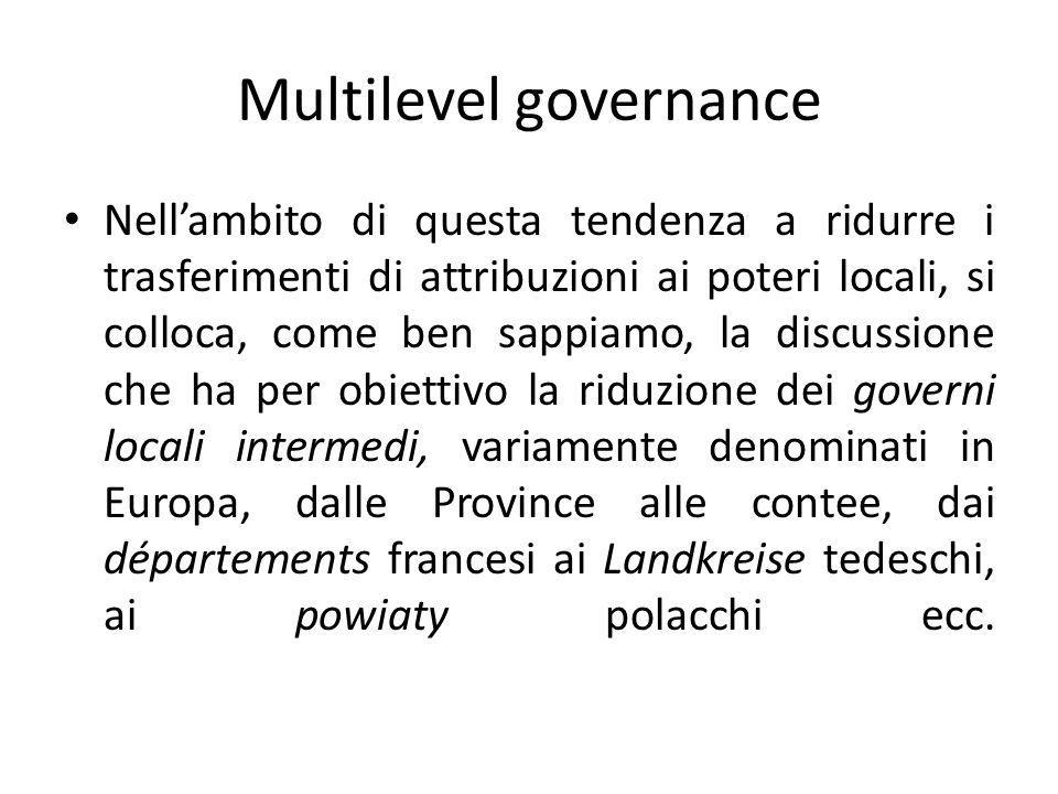 Multilevel governance
