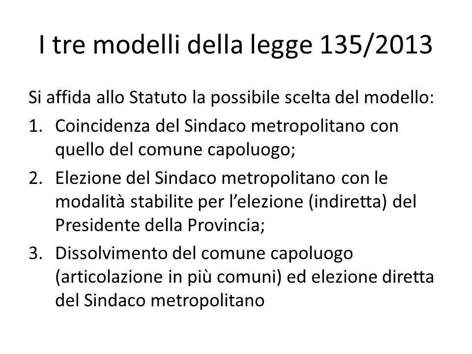 I tre modelli della legge 135/2013