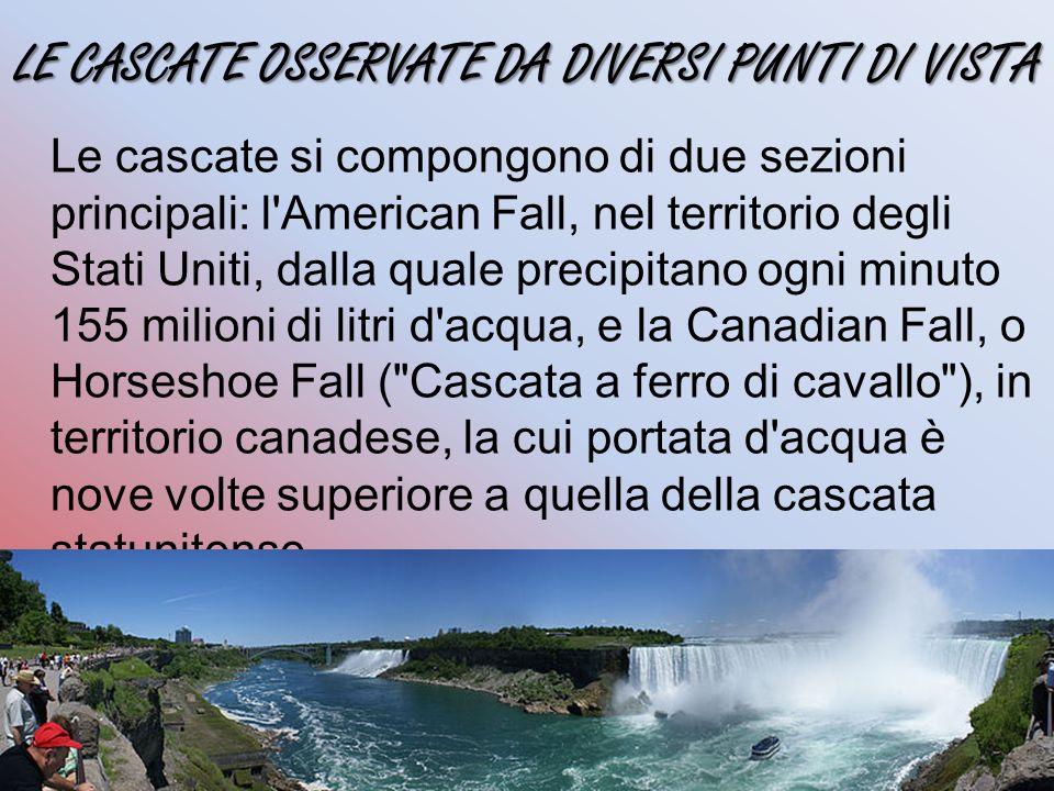 LE CASCATE OSSERVATE DA DIVERSI PUNTI DI VISTA