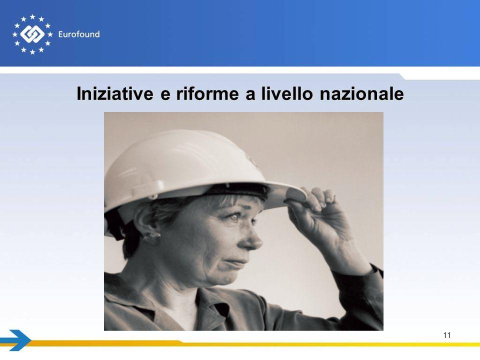 Iniziative e riforme a livello nazionale