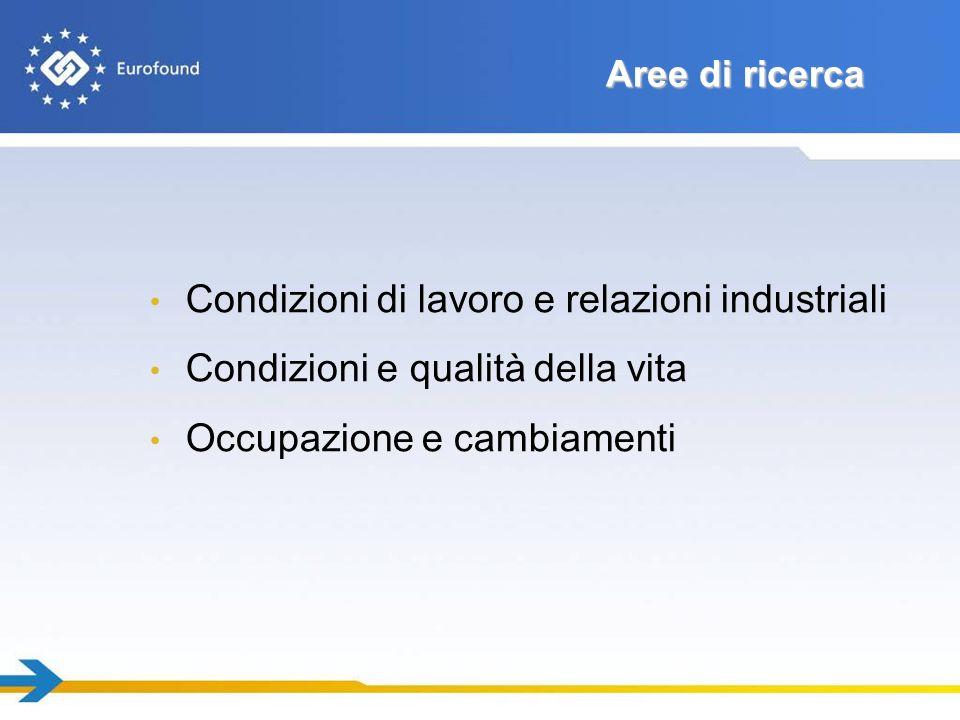 Condizioni di lavoro e relazioni industriali
