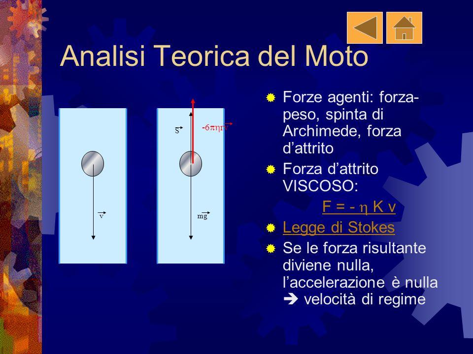 Analisi Teorica del Moto