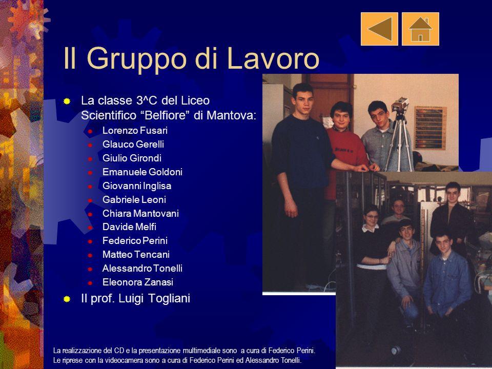 Il Gruppo di Lavoro La classe 3^C del Liceo Scientifico Belfiore di Mantova: Lorenzo Fusari. Glauco Gerelli.