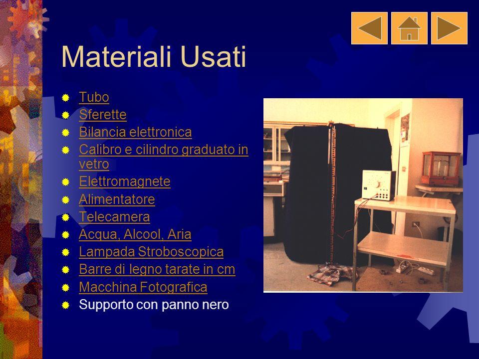 Materiali Usati Tubo Sferette Bilancia elettronica