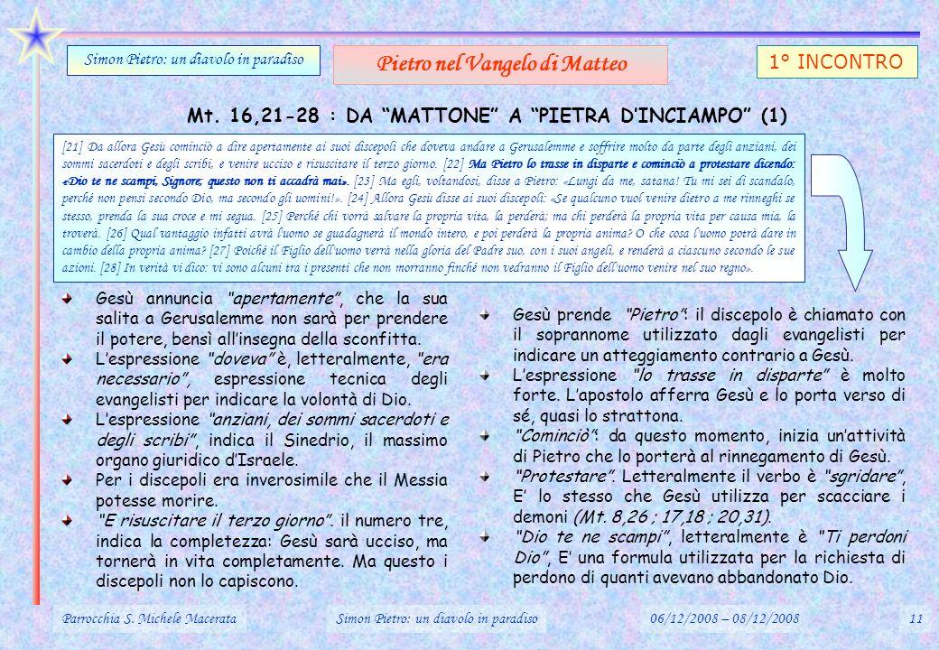 Pietro nel Vangelo di Matteo