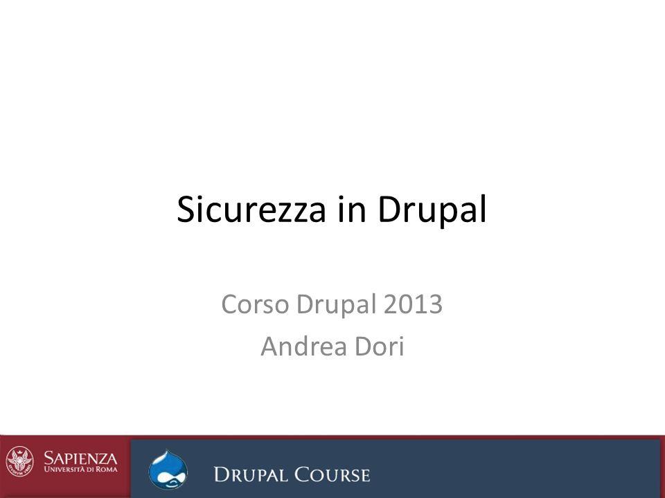 Corso Drupal 2013 Andrea Dori