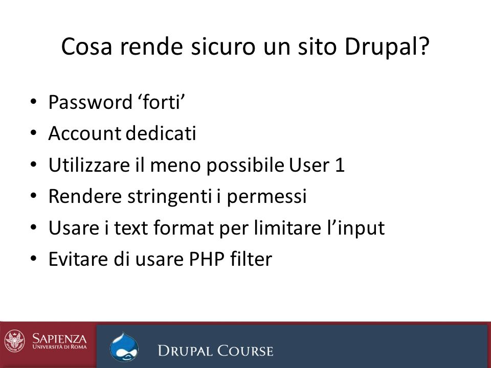 Cosa rende sicuro un sito Drupal