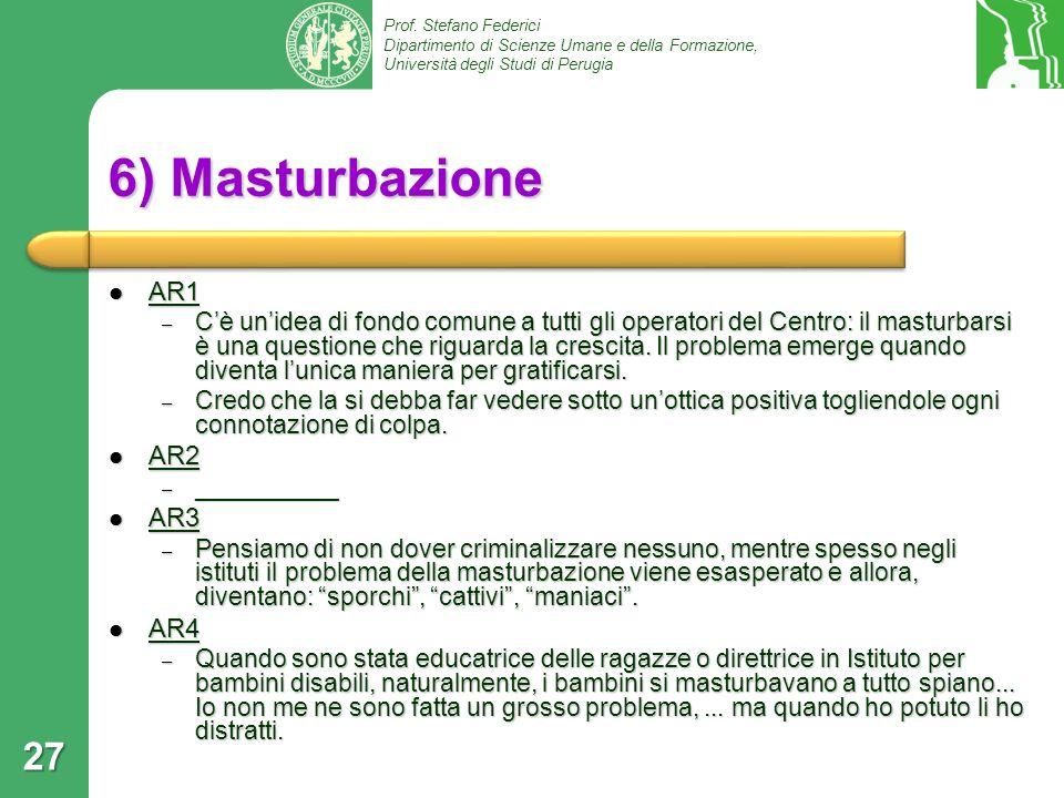 6) Masturbazione AR1 AR2 AR3 AR4
