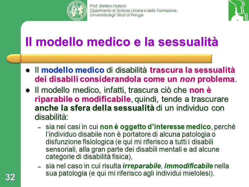 Il modello medico e la sessualità