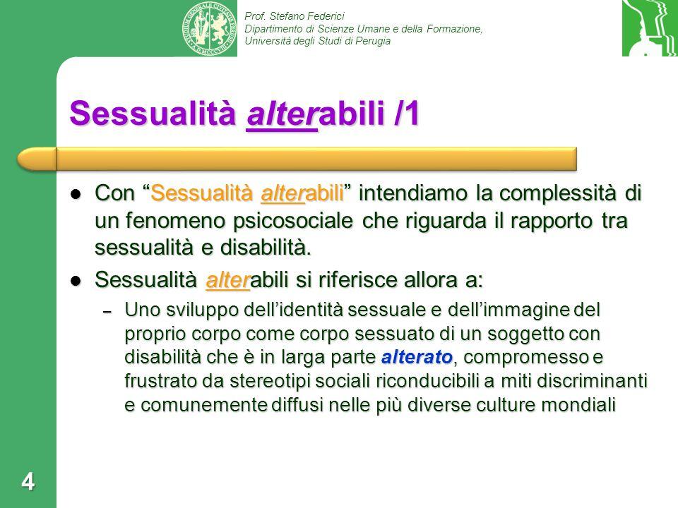 Sessualità alterabili /1