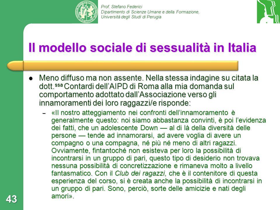Il modello sociale di sessualità in Italia