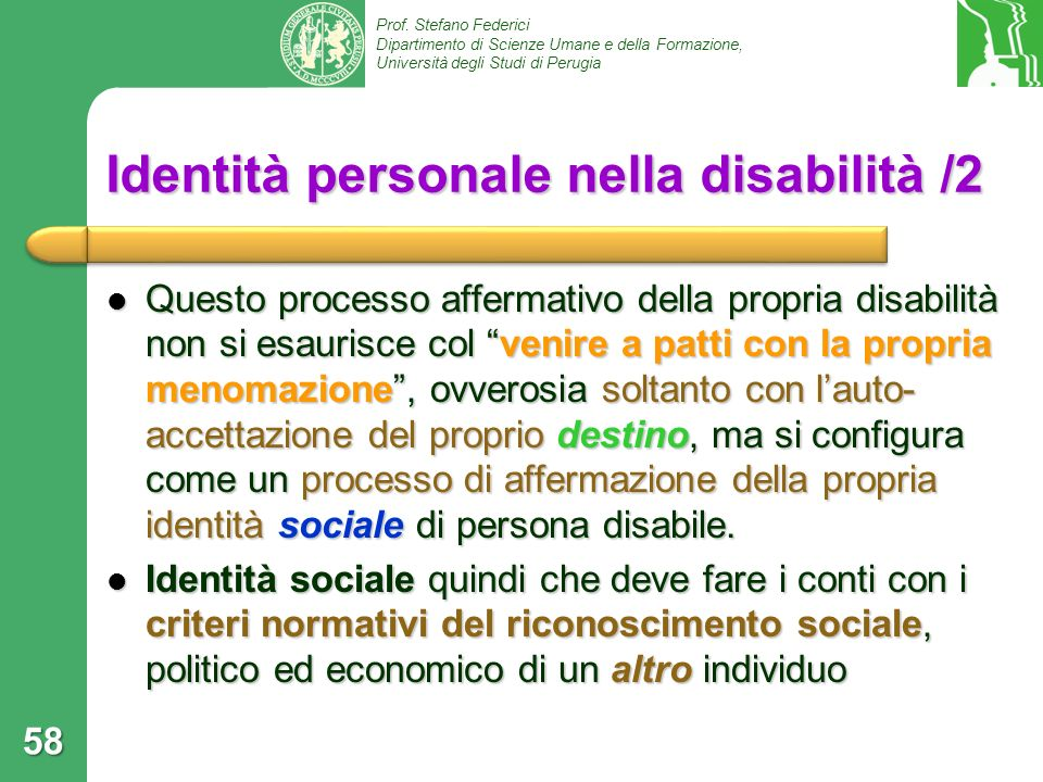 Identità personale nella disabilità /2