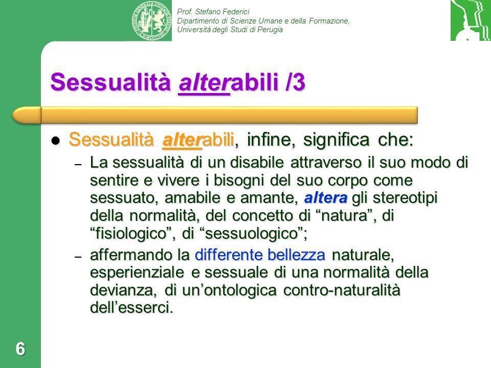 Sessualità alterabili /3