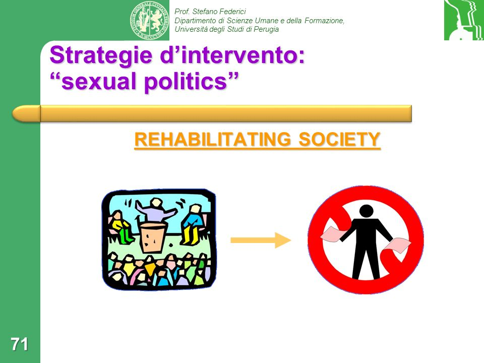 Strategie d'intervento: sexual politics