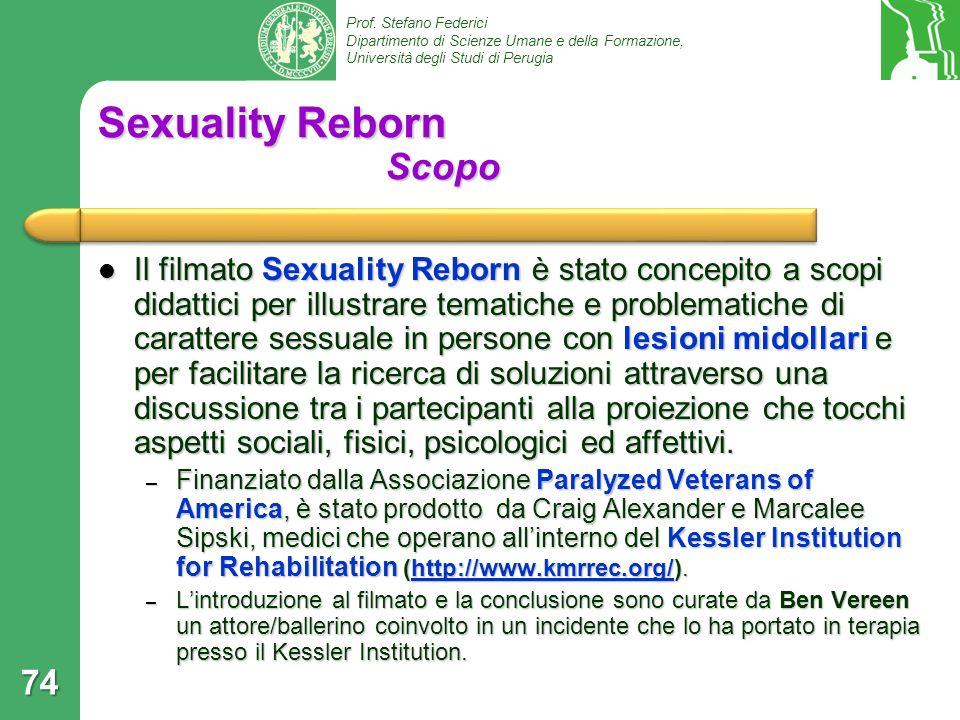 Sexuality Reborn Scopo