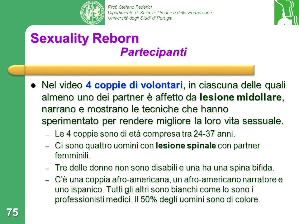 Sexuality Reborn Partecipanti