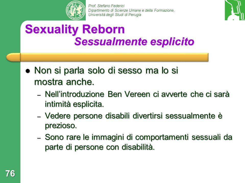 Sexuality Reborn Sessualmente esplicito