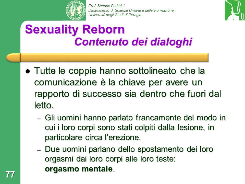 Sexuality Reborn Contenuto dei dialoghi
