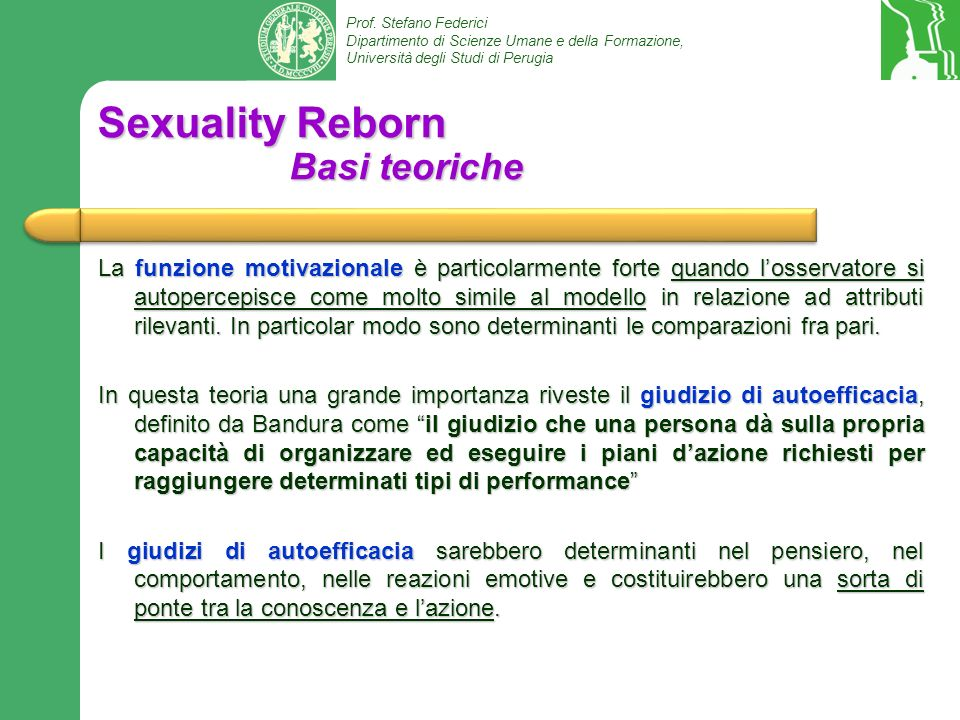 Sexuality Reborn Basi teoriche