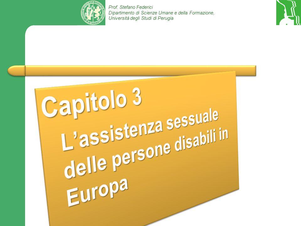 Capitolo 3 L'assistenza sessuale delle persone disabili in Europa