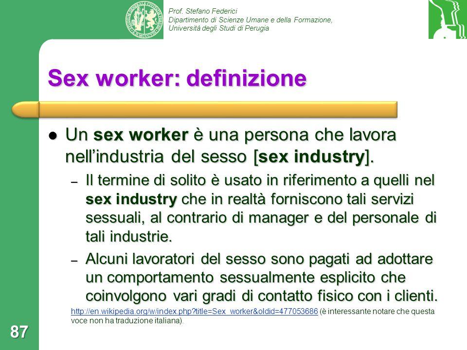 Sex worker: definizione
