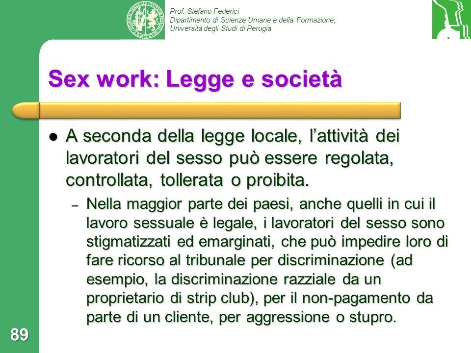 Sex work: Legge e società