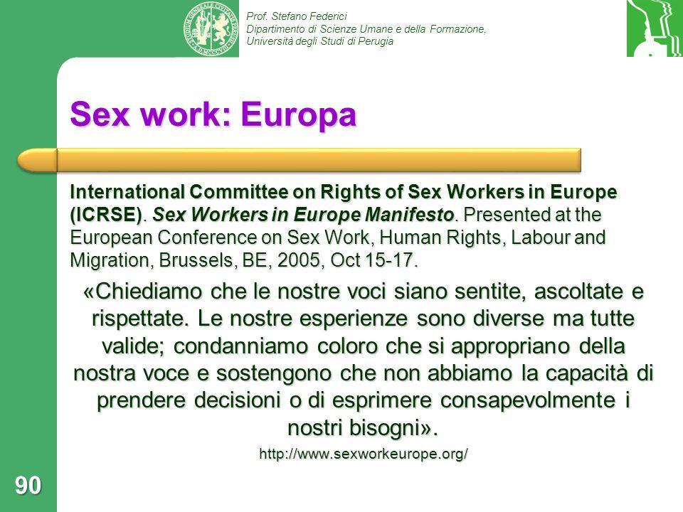 Sex work: Europa