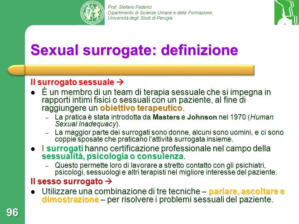 Sexual surrogate: definizione