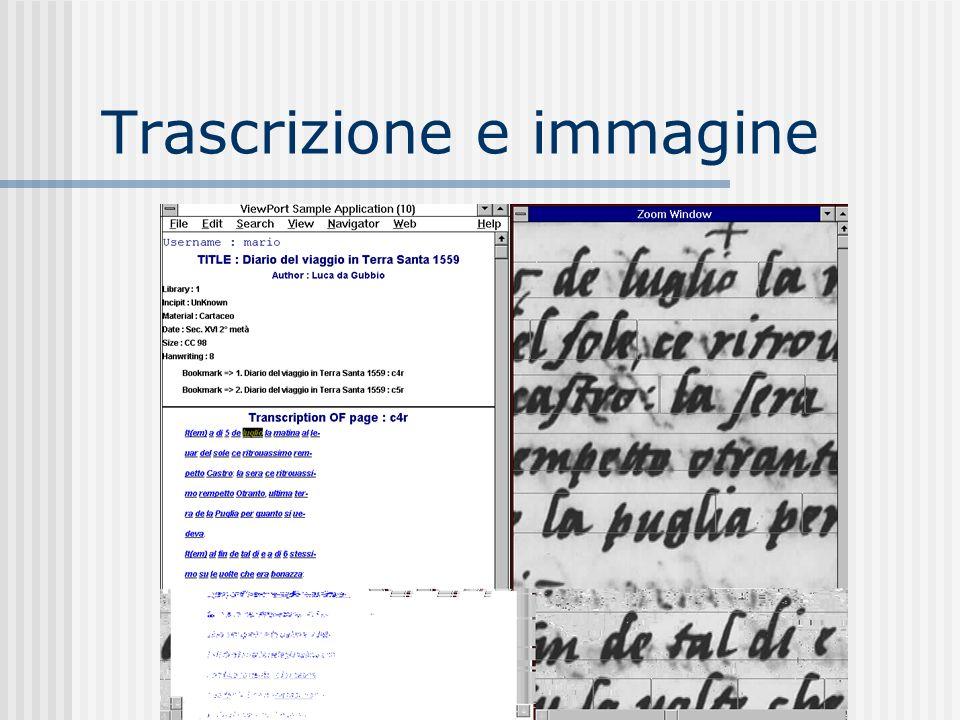Trascrizione e immagine